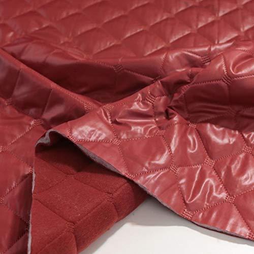 TOLKO 1m Futterstoff | Futter-TAFT als Dekostoff universal Stoff zum Nähen Dekorieren | Blickdicht knitterarm | 150cm breit Modestoff Hochzeitsstoff Kleiderstoff Kostümstoff Meterware (Wein Rot)