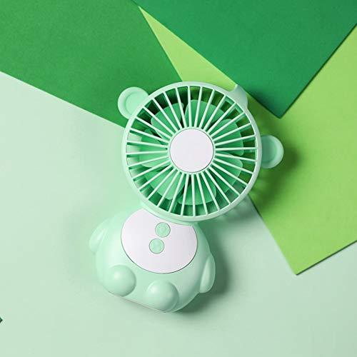 XHSHLID Mini-ventilator met 3 lagen USB nachtlampje ventilator dimmer snelheid wind met licht draagbare LED pilootlamp draagbare camping