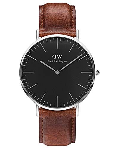 Daniel Wellington Classic St Mawes, Braun/Silber Uhr, 40mm, Leder, für Herren