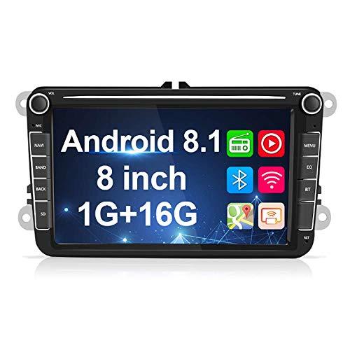 2 Din Car Stereo para VW Navigation Android Autoradio 8 'TFT Pantalla táctil Soporte GPS BT FM USB TF Subwoofer Car Audio en el tablero para Passat Jetta Skoda Polo Golf Touran con cámara de respaldo