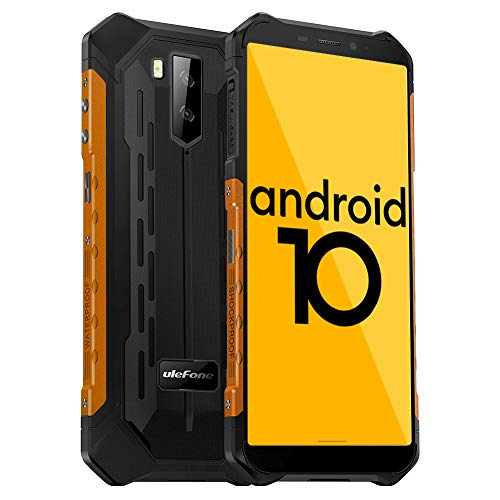 Ulefone Armor X5 Outdoor Handy - Android 10.0 Smartphones Ohne Vertrag IP68/IP69K Wasserdicht Stoßfest Staubdicht 4G hanyds Dual SIM 3GB RAM 32GB ROM 5,5-Zoll-Display 5000mAh Akku (Orange)