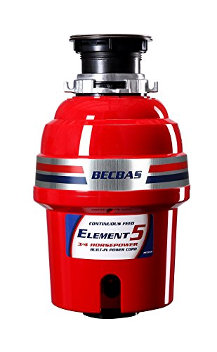 BECBAS ELEMENT 5 Garbage Disposal,3/4HP 2600 RPM Household Food Waste Disposer With Power Cord