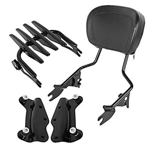Sissybar + Gepäckträger XB für Harley Davidson Road King Special 17-20 schwarz
