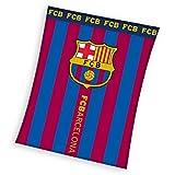 Barcelona FC - Manta Polar Barcelona FC Rayas 110 x 140 cm.