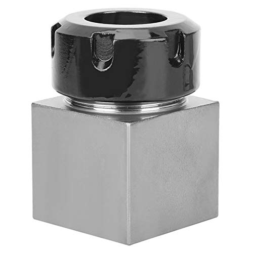 Okeyminy Lathe Accessories ER32 Square Collet Chuck Holder Hard Steel Mayitr Block Fit for CNC Lathe Engraving Machine Collet Block SQNMKB
