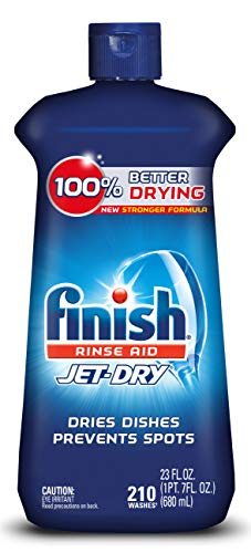 Finish Jet-Dry Aid, 23oz, Dishwasher Rinse Agent & Drying Agent, 23 Ounce (Pack of 1), Plum & Navy, 23 Fl Oz