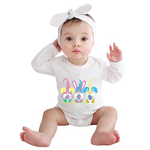 Mein erstes Ostern Baby Langarm Body Tops Neugeborene Ostern Strampler T Shirt Ostereier Osterhase Drucken Overall Langarm Romper Cotton Oberteile Easter Langarmshirts Mode Easter Body Babykleidung