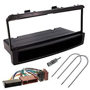 Sound-Way - Kit de Montaje Marco para Radio Adaptador autorradio 1 DIN Ford Fiesta Focus Transit