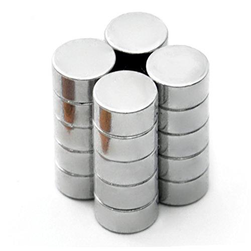 GOODS+GADGETS Neodym-Magnete Set 6 x 3 mm ; 20 Stück Kühlschrank-Magnet Scheibenmagnete Permanentmagnete