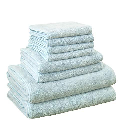 KMXHG Badetuch 8 stücke Mikrofaser Badetuch Sets Weichheit Quick Dry Hair ToallasGesicht Handtuch Set, 2