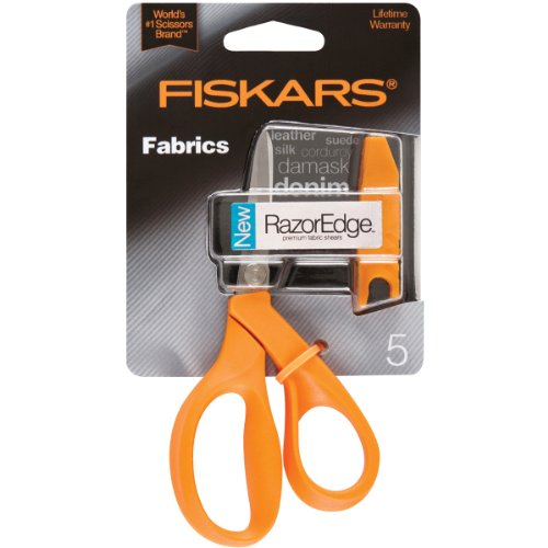 Fiskars Crafts 8150 RazorEdge Fabric Shears, 5-Inch