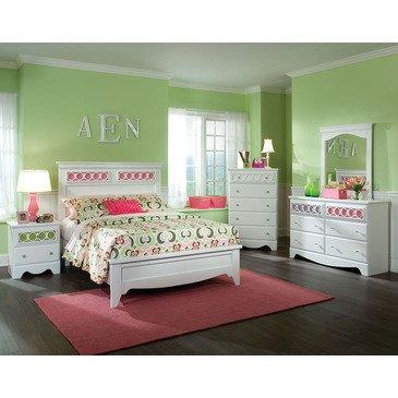 Hot Sale Standard Furniture My Room 5 Piece Panel Bedroom Set In White