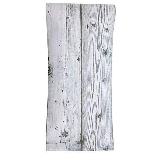 Guangcailun Autoadhesiva Grano de Madera Zócalo de Pared Pegatinas Pegatinas de Pared de Esquina de PVC Resistente al Agua del azulejo de la Cintura Línea de Transmisión Planta Calcomanías