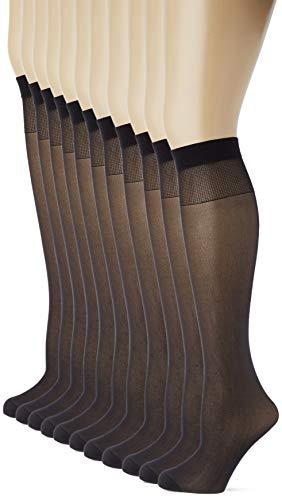 Dim Ecodim, Mi - bas Femme, Noir (Noir 0hz), Small (Taille fabricant: 35/41), (Lot de 12)
