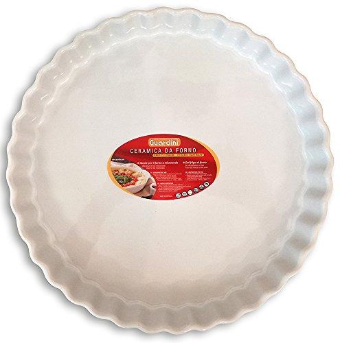 Guardini, Ceramica, Tartera de 29 cm, Material: Cerámica. Color Blanco.