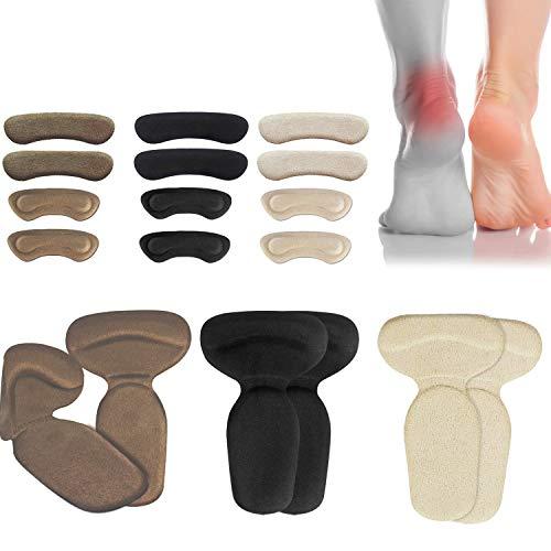 (18pcs) Heel Cushions-Heel Grips/High Heel Pads Inserts Reusable Heel Liner Protector Best for Loose Shoe Heel Anti Slips Blister Heel Rubbing and Heel Pain Relief Bunion Callus  for Men & Women.
