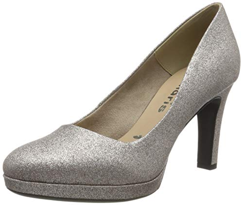 Tamaris Damen 1-1-22408-24 Pumps, Grau (Space Glam 960), 42 EU
