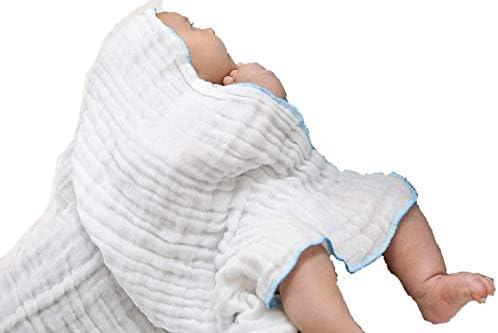 Baby Muslin Washcloths Baby Washcloths White Washcloths Face Cloths Infant Washcloths Muslin product image