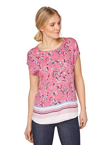 TOM TAILOR Damen 1010681 Bluse, Mehrfarbig (Pink Big Paisley des 19162), 40