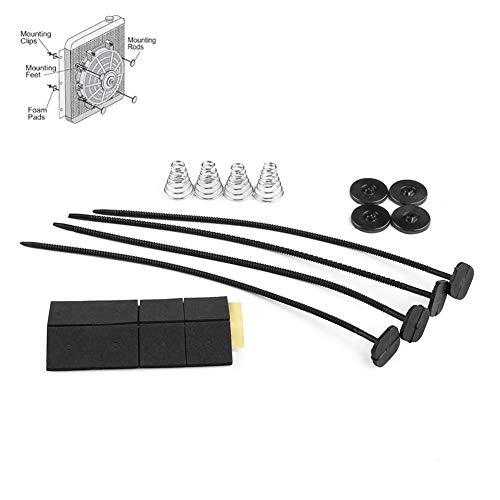 POHOVE Kit de montaje para ventilador de coche, duradero, cómodo, radiador eléctrico, montaje ligero, soporte de amarre universal, accesorios para motor