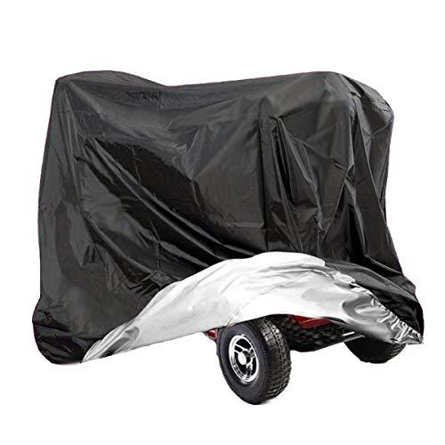 VVHOOY Elektromobil-Abdeckung, 210D Oxford Heavy Duty Wasserdicht 4 Rad Power Scooter Reise Lagerung Abdeckung Allwetter Outdoor Schutz 55 x 26 x 36 Zoll / 140 x 66 x 91 cm