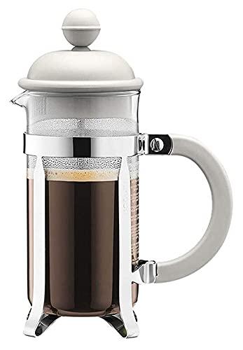 Kawa prasa kawy urządzenie szklane ręcznie dziurkować ekspres do kawy gospodarstwa domowe małe przenośne czajniczek filtra (Color : White, Size : 350ml)