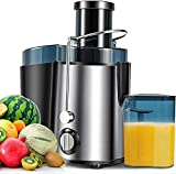 Juicer Machines Vegetable and Fruit, Juice Extractor Machine with Wide Mouth Feed Chute, Centrifugal Juicer Easy to Clean for Fruit Vegetable, Juice Maker with Multi-Speed Control, BPA-Free, Anti-Drip