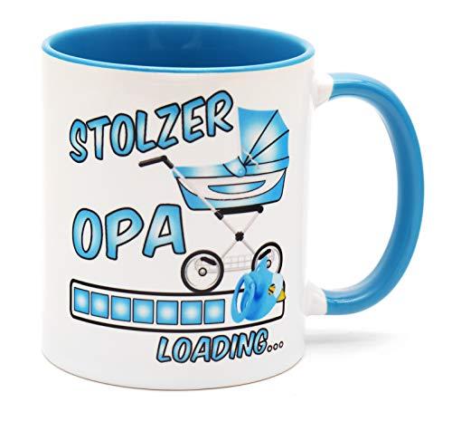 Stolzer Opa Loading Tee Tasse Kaffee Becher Geschenk für werdende Großeltern Du wirst Großvater Überraschung Baby zukünftiger Verkündung Schwangerschaft Schwanger Glückwunsch bald Mädchen werdender