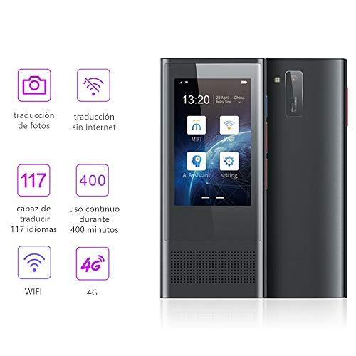 Febelle Traductor de voz AI 117 idiomas cámara de 8 megapíxeles traducción de fotos 3,1 pulgadas pantalla máquina inteligente viaje de negocios