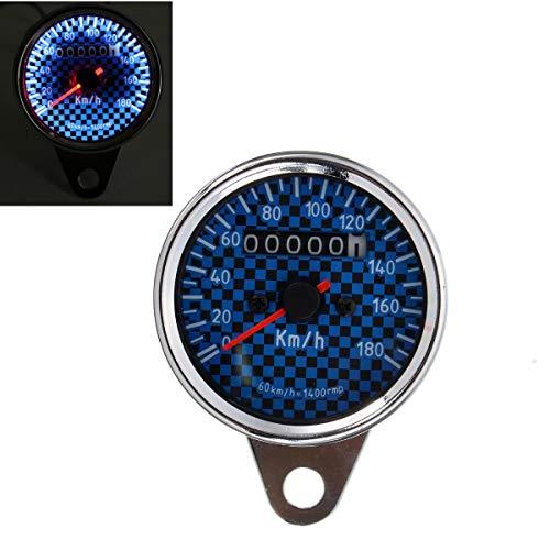 IJEOKDHDUW Motocicleta Universal LED Velocímetro Odómetro Calibrador Azul Blanco Retroiluminación