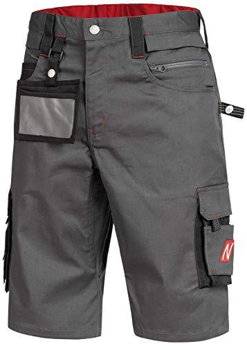 Nitras Motion TEX PRO FX 7702 Arbeitshosen - Shorts für die Arbeit - Grau - 60