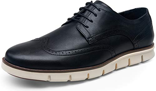 VOSTEY Men's Dress Shoes Black Casual Dress Shoes for Men Black Oxford Shoes for Men Casual Oxford Sneakers Wingtip Black Dress Shoes for Men (9,Classic wingtip642-black)