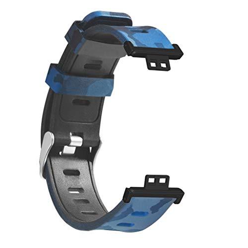 VVXXMO Impresión de silicona Smart Watch Strap,para reloj Fit,Deporte Impermeable,Relojes de pulsera Accesorios