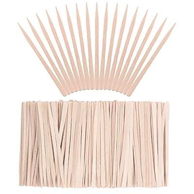 Whaline 400Pcs Eyebrow Wax Sticks Small Wood Spatulas Applicator Tongue Depressors Wax Waxing Tatoo Sticks for Hair Eyebrow Removal