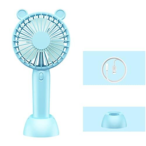 LMJ Ventilador portátil de la Base Desmontable pequeño, Ventilador de Escritorio Mute Durante, Persona Personal USB Fan para al Aire Libre, habitación (Color : Blue, tamaño : 3600mAh)