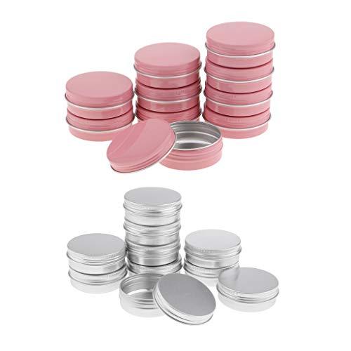 SDENSHI 20pcs Pots Vide Cosmétiques Aluminium pour Échantillon de Crèmes Stockage de Maquillage