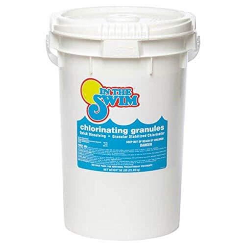 In The Swim Sodium Di-Chlor Chlorine Granular Pool Shock - 40 Pound Bucket