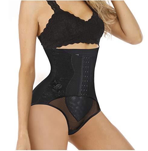 Chumian Intimo Donna Modellante Guaina Contenitiva a Vita Alta Shapewear Mutande Dimagranti Elastiche Pancera Snellente Body Shaper (Nero, XXX-Large)