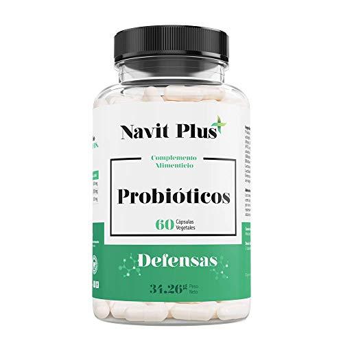 Probióticos - 10 mil millones de UFC. Nueva fórmula potenciada de amplio espectro para mejorar la flora intestinal y el sistema inmunológico. 60 cápsulas vegetales. Ingredientes de máxima efectividad.