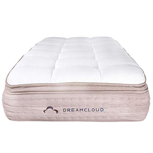 DreamCloud Full Mattress Hybrid Mattress with 6 Premium Layers - CertiPUR-US Certified - 180 Night Home Trial - Everlong Warranty