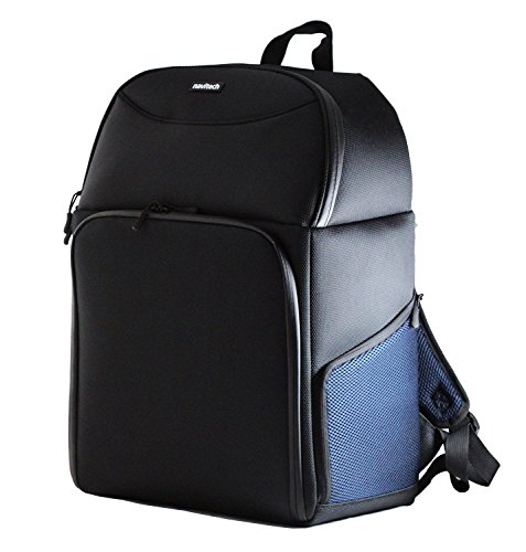 Navitech Rugged Black Backpack/Rucksack/Carry Case Compatible with The Abdtech 1200 Lumens Mini LED Multimedia Home Theater Projector
