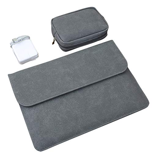 Zhhlinyuan Laptop Sleeve Computer Case 12inch 13.3inch 15.4inch for Macbook, MacBook Pro with Small Case for Charger/Mouse