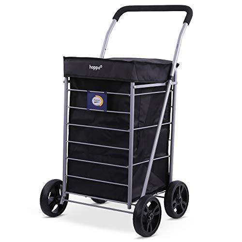 Hoppa Lightweight 4-Wheel Premium 2021 Model Folding Shopping Trolley Extra...