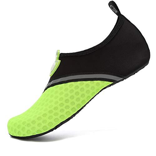 VIFUUR Zapatos de Agua Hombres Mujeres niños Aqua Yoga Descalzos de Secado rápido Slip-en los Calcetines Empalme Meteorito EU42/43