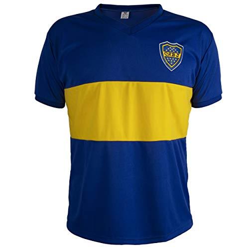 Camiseta Boca Juniors Retro del Fútbol Hombrega Corta para Hombre - S