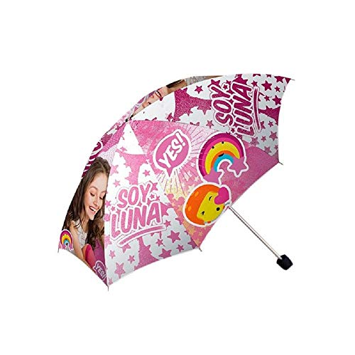 Kids Soy Luna Paraguas Plegable, 24 cm, Rosa
