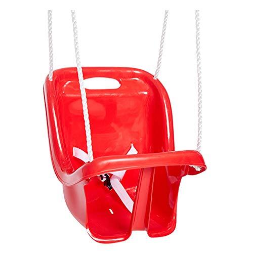 PQXOER-SP Schaukel Kinderschaukel High Back Full Bucket Kleinkind Schaukelsitz Schaukel Ketten komplett montiert (Farbe : Rot, Größe : 36x25.5x40cm)