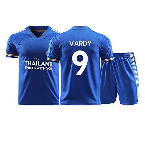 Jamie Vardy # 9, kurzärmeliger Fußballtrainingsanzug für Herren, geeignet für Kinder und Erwachsene Aller Größen (Color : A, Size : Adults-S)