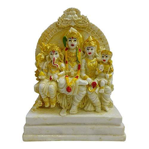 VintFlea Estatua/ídolo de Lord Shiv Parivar Parvati