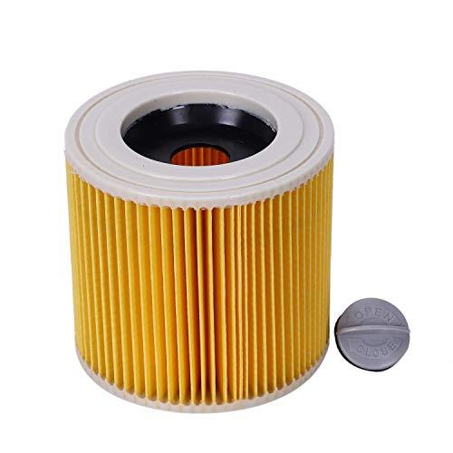 QIBIN Piezas de aspiradora de repuesto filtros de polvo de aire bolsas para Karcher Aspiradoras Piezas Cartucho HEPA Filtro WD2250 WD3.200 MV2 MV3 WD3